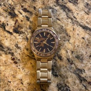 Tortoise Michael Kors Watch